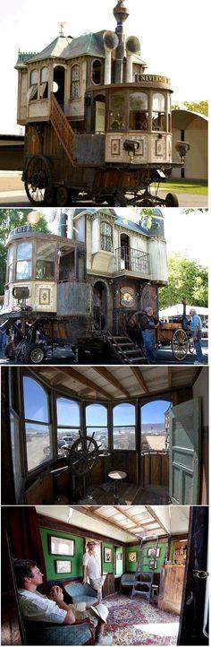 Neverwas Haul, A Steampunk Victorian-Era House On Wheels.