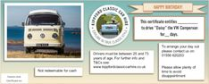 Driving experience day vouchers - for classic cars - the perfect gift for a special occasion. Personalised vouchers can be either posted or emailed to you. Morris Minor, Self Driving, Gift Vouchers, Vw Camper, Campervan, Scotland, Classic Cars, Weddings, Day