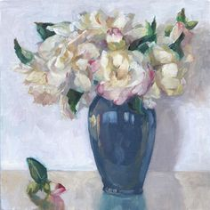 White camelias  (12x12in) - SOLD