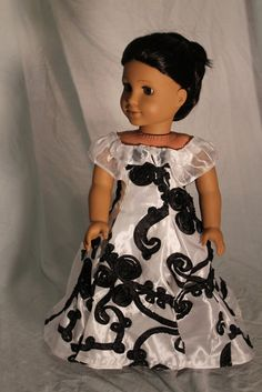 Victorian evening gown for 18in american girl by bobbyjosue