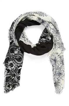 $21, Floral Scarf by Hinge. Sold by Nordstrom. Click for more info: http://lookastic.com/women/shop_items/115708/redirect