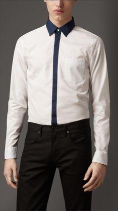 Cotton Colour Block Shirt