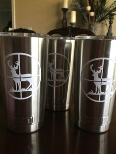 Mens deer hunting scope yeti cup decal by MonogramOutlet on Etsy