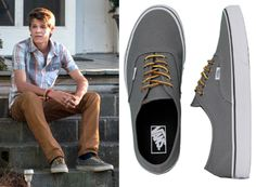"Joe McAlister (Colin Ford) wears Vans Authentic Hiker Canvas Sneaker in the color Gargoyle in Under the Dome Season 1 Episode 7 ""Imperfect Circles."""