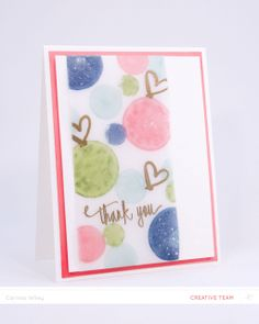 A color challenge for Studio Calico's CHA Virtual Crop! Polka Dot Thank You by carissawiley at @Studio_Calico #SCCROP2014