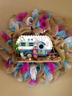 Welcome to my beach home wreath