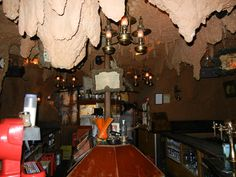 """One of my favorite bars, served """"panthers milk"""" as a drink. El Chapandaz. cave bar in Madrid."""