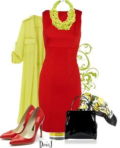 """""""Yellow Trench Coat"""" by dimij on Polyvore"""