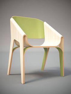好喜歡這款彎曲椅的唯美設計~~