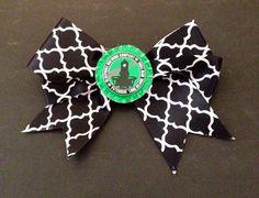 Handmade hair bow bluepoint company summer ale Long Island clip back on Etsy, $6.99