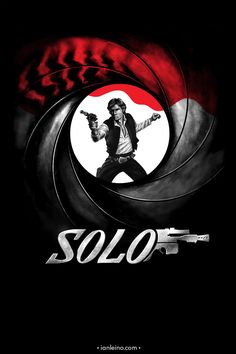 """Licensed to Shoot First"" by Ian Leino.  The name is SOLO, HAN SOLO.  I'm captain of the Millennium Falcon.  Chewie here tells me you're lookin' for passage to the Alderaan system..."