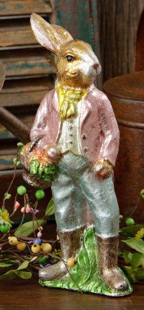 Foil Wrapped Faux Chocolate Easter Bunny Rabbit Vintage Style   eBay