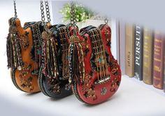 New Beaded Tassel Guitar Jeweled bag Shaped Designer Shoulder bag purse handbag Bags Online Shopping, Online Bags, Shopping Bag, Biya, Mary Frances Handbags, Unique Purses, Unique Bags, Designer Shoulder Bags, Denim Bag