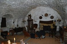 the Laird's room, redecorated for filming