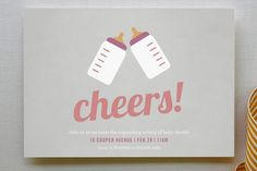 Cheers! Baby Shower Invitations by Picklelily | Minted