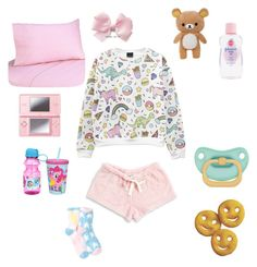 """Sleepy baby (ddlg 2)"" by aliennymphet ❤ liked on Polyvore featuring Nintendo, Zak! Designs, Roudelain, Free Press and Sweet Jojo Designs"