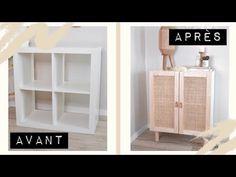 kallax diy hacks Je transforme un meuble IKEA en meuble cannage Je transforme un meuble IKEA en meuble cannage Ikea Furniture Hacks, Ikea Hacks, Furniture Projects, Furniture Makeover, Cane Furniture, Bedroom Furniture, Ikea Organization Hacks, Ikea Makeover, Dresser Furniture