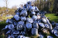 Hubcap Heaven in Houlton,Maine. 25,000 New, Used and Reconditioned wheel covers and hubcaps.