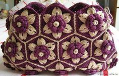 Tutorial #85: Bolso con Grannys Hexagonales a Crochet | CTejidas [Crochet y Dos Agujas]