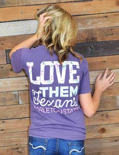 We know you love them Texans! Show your school spirit in this new Tarleton State University t-shirt! GO TSU Texans!
