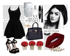 """""""BLACK"""" by sukh-deol on Polyvore featuring WithChic, The French Bee, Lime Crime, Lalique, Chanel and Givenchy"""