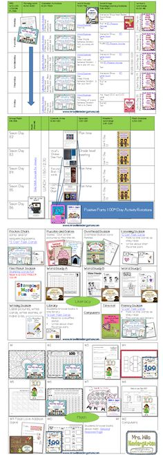 Mrs. Wills Kindergarten: Peek at my Week-100th Day and Classroom Management Freebie