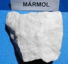 Mármol. roca metamórfica(m térmico o de contacto)......