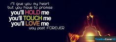 Ill Give You My Heart But You Timeline Cover 850x315 Facebook Covers - Timeline Cover HD