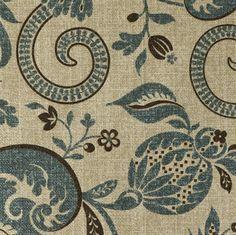 Designer Upholstery Fabric: Middlebrook Dark Teal