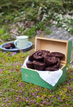 Fudgy Chocolate Two-Bite Brownies (GF, DF) | Simple Bites