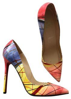 8a3f4f9e3 Christian Louboutin Rainbow Pollock Pigalle 120 Pumps Size US 7.5 Narrow  (Aa