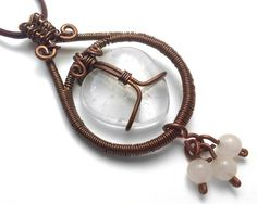 Quartz Heart Drop Necklace by BuddhaNature on Etsy, $65.00