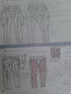 diseño de #pantalon jeans para hombre con tecnicas de volumetria y origami y tecnicas clasicas de patronaje. #modazeus  loqueras mias  :P