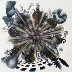 Jonas Pihl Omni Core (Multiverse) 60x60 cm. Akryl på lærred