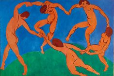Henri Matisse, 1909-1910, The dance. oil on canvas, museum of the Ermitage, San Pietroburgo