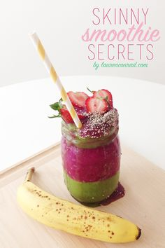 Healthy Habits: Skinny Smoothie Secrets - I actually do this already, but it's a nice re-enforcer to stick to the healthy way.