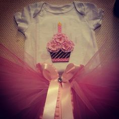 First birthday onsie and tutu
