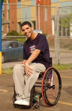 Jimmy!!...This is why I can't take Drake seriously because he will ALWAYS be Jimmy in the wheelchair from Degrassi.
