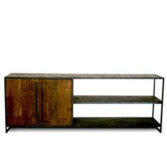 Reclaimed Lumber Media Table