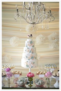 I love this image! Everything about it is so sweet and weddingy! #cake #wedding #birds