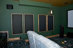 DIY construction methods of hang-able acoustic panels (not fixed frames)