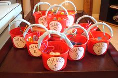 the party favors for the kids at the baby shower