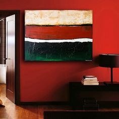 LARGE PAINTING ON CANVAS ABSTRACT ART 40x30x1.5 inches BY ROSS MALYSH