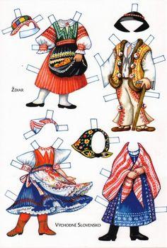 Czech paper dolls: Stjar and Vychodne Slovensko Paper Toys, Paper Crafts, History Of Paper, Paper Dolls Clothing, Paper Dolls Printable, Thinking Day, Vintage Paper Dolls, Soft Dolls, Summer Crafts