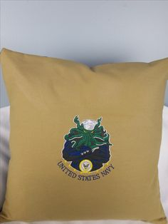 The Navy Squid is a beautiful gift for any sailor.  tbembroideryandpaint.com