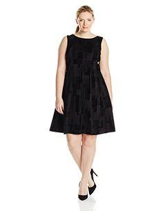 Calvin Klein Women's Plus-Size Embossed Flare Dress, Black/Black Combo, 20W Calvin Klein http://www.amazon.com/dp/B012HV7BCE/ref=cm_sw_r_pi_dp_zCMXwb1FWAVCT