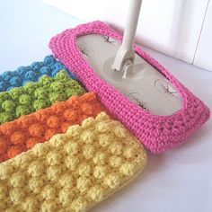 reusable crocheted Swiffer covers