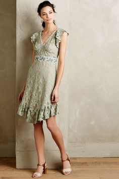 Fluttering Lace Dress - anthropologie.com #anthroregistry