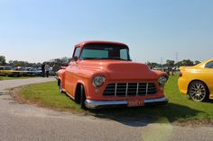 55 Chevy pickup at Perth Custom Cars and Coffee meet