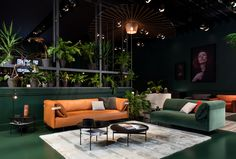 The Rolf Benz ALMA sofa finally arrived at the Salone del Mobile in Milan.
